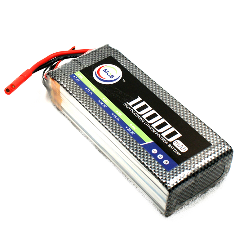 MOS 4S 14.8v 10000mah 25c RC drone lipo battery for rc airplane lithium batteries Free shipping mos 2s rc lipo battery 7 4v 2600mah 40c max 80c for rc airplane drone car batteria lithium akku free shipping