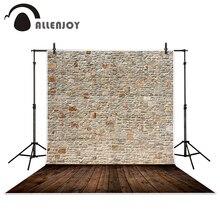 Allenjoy fondali fotografia Stonewall disposti in modo ordinato di legno sfondi muro di mattoni per studio fotografico