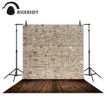 Fond de mur en briques de bois soigneusement agencé pour studio photo