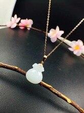 цены SHILOVEM 18k YELLOW gold Natural white Jasper pendants lassic fine Jewelry women wedding plant wholesale new yz121406