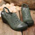 2017 elegant women shoes sheepskin Baotou women sandals thick heel hollow summer shoes elastic strap