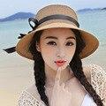 Playa del sunbonnet del Strawhat femenino sombrero de verano sombrero para el sol sombrero plegable sombrero para las mujeres niñas