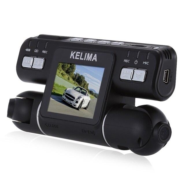KELIMA-020 Вращения 270 Градусов Две Камеры 2.0 дюймов Автомобильный ВИДЕОРЕГИСТРАТОР 1080 P FHD Поддержка G-sensor 32 Г TF Карта