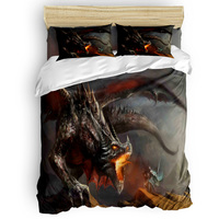 Dragon Slaughtering Warriors In The Middle Ages 3 Piece Bedding Sets 4 Piece Bedding Sets Duvet Cover Sets New Year's Day