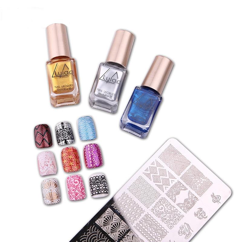 Горячее предложение 12 мерцающих цветов опциональный штемпелюющий лак для ногтей спрей лак для ногтей и штемпельная полировка красота ногт...