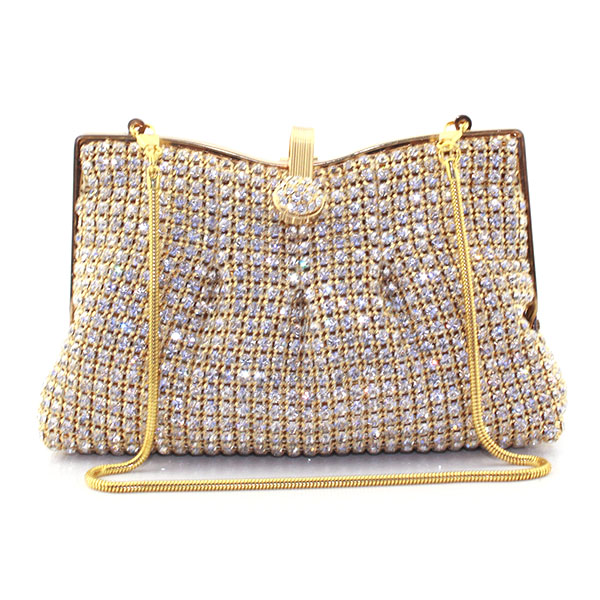 Gift Crystals Bag Women Evening Clutch Bags Ladies Wedding Bridal Metal Frame Handbag Purse Party Prom Clutches(6071-BG) women leopard pattern clutch evening gold silver with crystals fashion clutch bag handbag wedding bridal prom purse smycy e0058