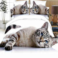 Animal Photographic Print Duvet Quilt Cover Bedding Set Pillowcases 3D Stereoscopic 2 Piece Pillow Cover And 1 Piece Badding Bag