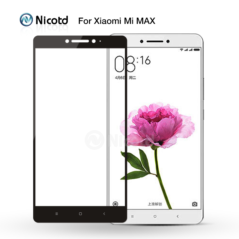 2.5D Full Cover Tempered Glass For Xiaomi Max Mi Max 2 Mobile Phone 6.44 Inch Screen Protector protective glass for Xiaomi MAX 2