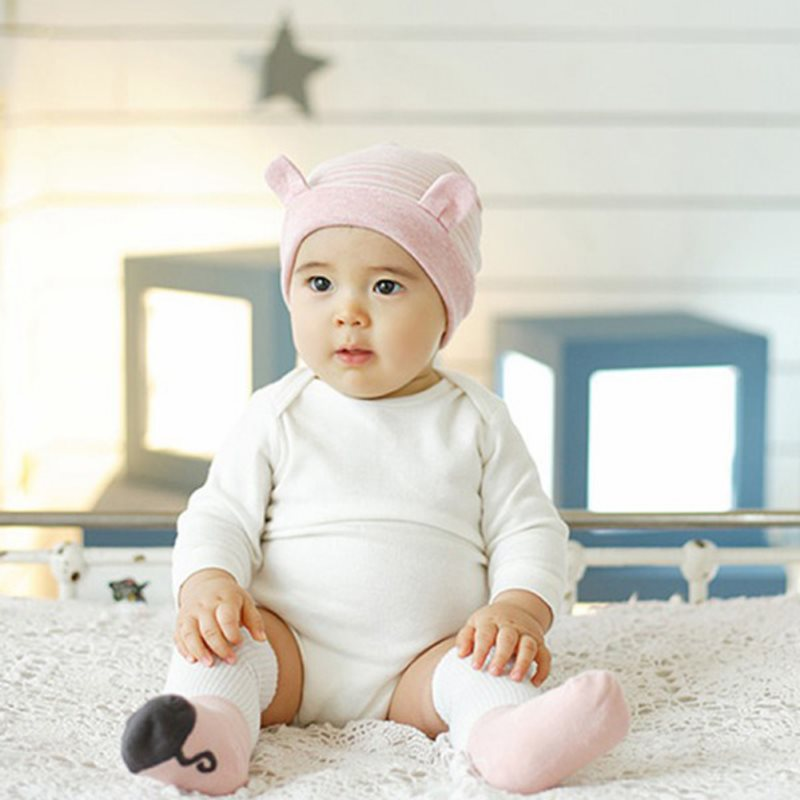 Aliexpress.com   Buy Newborn Baby Infants Hats Cute Little Ears Stripe  Cotton Baby Beanie Warm Hat Caps YI0L from Reliable infant hat suppliers on  BBSeeYou ... 57f02365069
