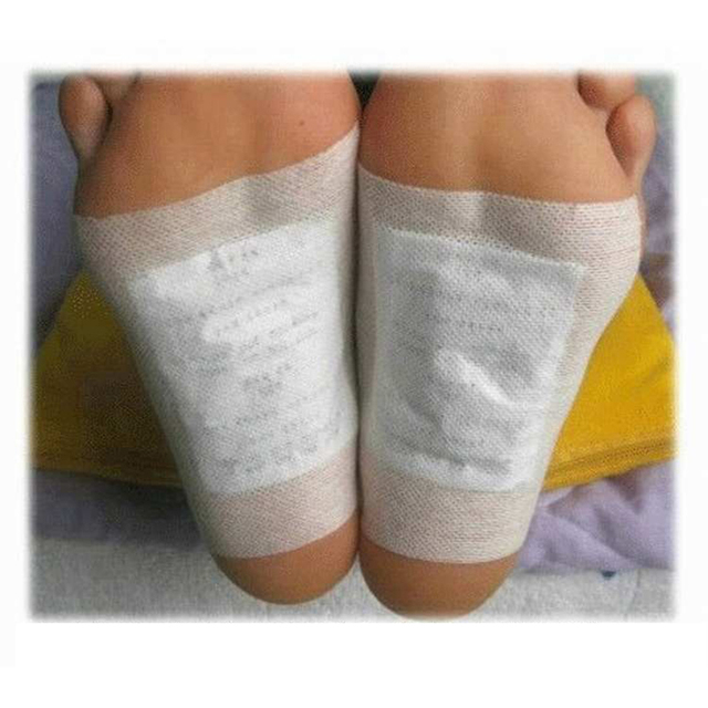 200PCS Artemisia Argyi Kinoki Detox Foot Patches Pads Toxins Feet Slimming Cleansing Herbal Body Health Adhesive Pad Weight Loss 4