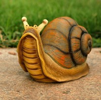 Resin snail artificial sculpture crafts as garden or home decoration 2pcs/set