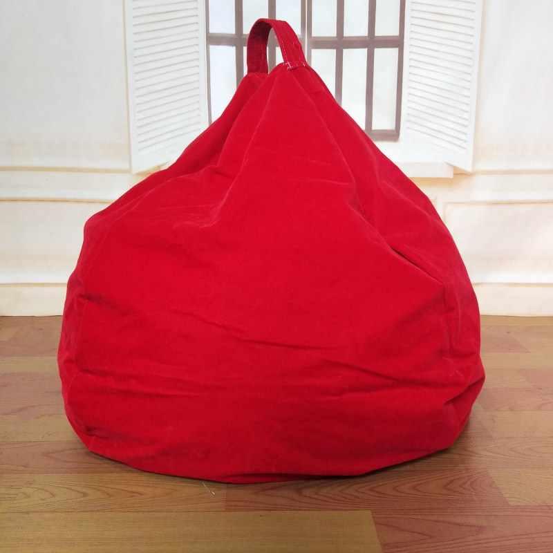 Cobrir Cadeiras do Saco de feijão Sofá Preguiçoso Assento Puff Reunindo Tecido Camas BeanBag Preguiçoso Sofás Sem o Enchimento Espreguiçadeira Assento Tatami casa