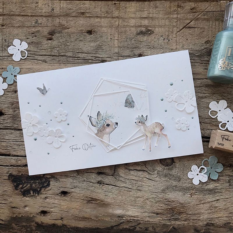 Fawn Frame DIY Cutting Dies Stencil Scrapbooking Embossing Craft Album Card Gift
