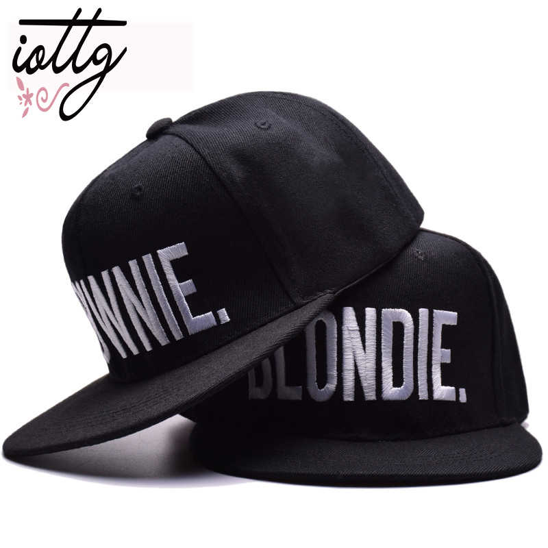 e3184121ca5a39 BLONDIE BROWNIE High Quality Embroidery Snapback Hats Cotton Women Gifts  Baseball Caps Hip-Hop Adjustable