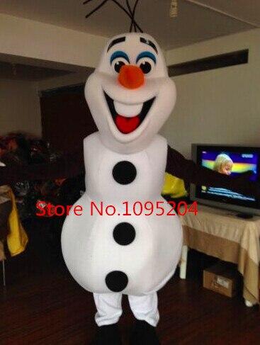 BING RUI CO Snowman Olaf Mascot Costume High Quality Olaf Mascot Costume Adult Size School Mascot Fancy Dress Costumes