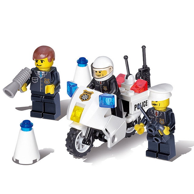 511 PCS DIY Police Set Series Vehicle Doll Building Brick Blocks Minifigure Baby Education Toy Gift Building Blocks Set Legoe