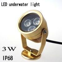 10 шт. led Подводное освещение 3 Вт открытый светлое золото бассейн лампы Водонепроницаемый IP68 DC/ac12v красный Gree синий белый червь белый