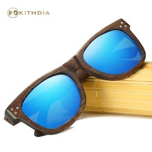 KITHDIA Brand Designer Men Wood Bamboo Sunglasses New Polarized Sun Glasses Box Retro Vintage Eyewear #KD028