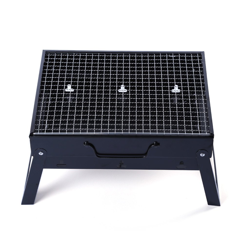 ФОТО Outdoor Camping Barbecue Roasting Picnic 35 x 27cm Folding Portable BBQ Charcoal Grill Outdoor Camping Cooker Smoker Tool
