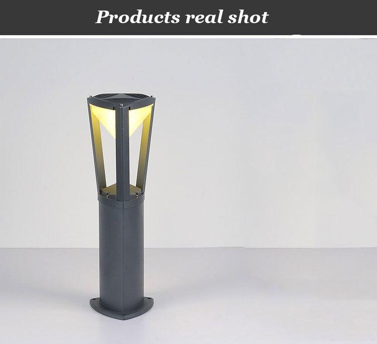 pólo à prova dwaterproof água gramado bollards luminárias