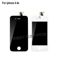 Free Shipping For IPhone 4 4G LCD Display Touch Screen Digitizer Replacement White Or Black 100