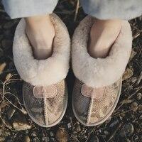 Envío de la Nueva Llegada 100% Real Clásica de Piel Mujer Botas Impermeables de Cuero Genuino del Zurriago de Botas Para la Nieve Zapatos de Invierno para Las Mujeres