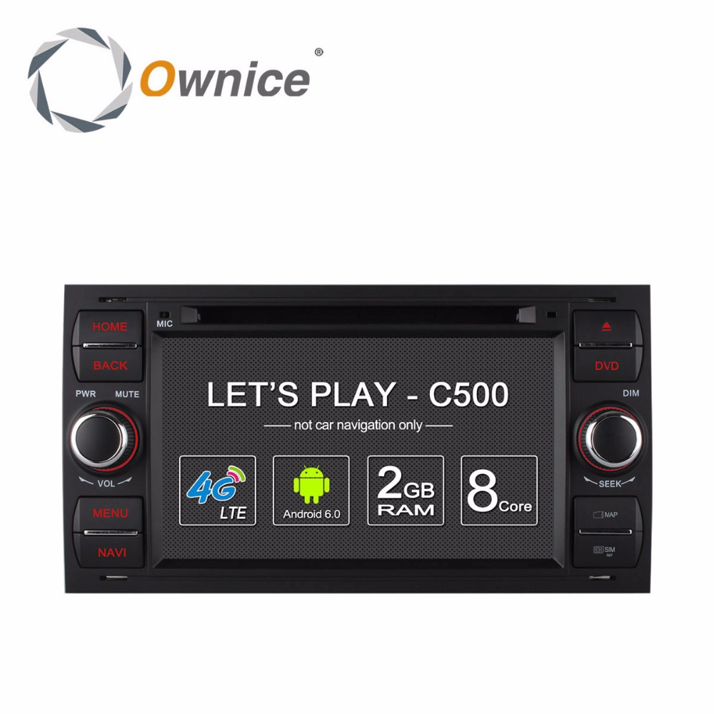 Ownice C500 Android 6.0 Octa 8 ядра в тире автомобиля DVD плеер для Ford Mondeo Focus Transit C Max GPS Navi Радио Поддержка 4 г LTE