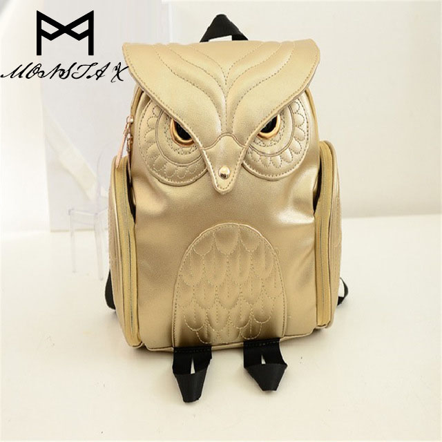 MONSTA X Fashion Cute Owl Backpack Women Cartoon School Bags For Teenagers Girls PU Leather Women Backpack Brands Mochila