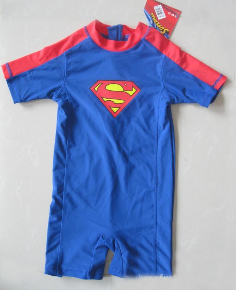 eb9ccc6a97 2-8Y Unitard Swimsuit boys Beachwear Bathing Swimwear boy surf clothes  Superman Fireman Sam swimsuit boy uv Surf Sunsafe UPF 50