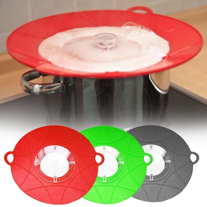 Cuisine Silicone Pot Couverture Anti Débordement Splash Couvercle Déversement Bouchon Pan Débordé de Sauvegarde Caches Contre Fer Cuisson Outils