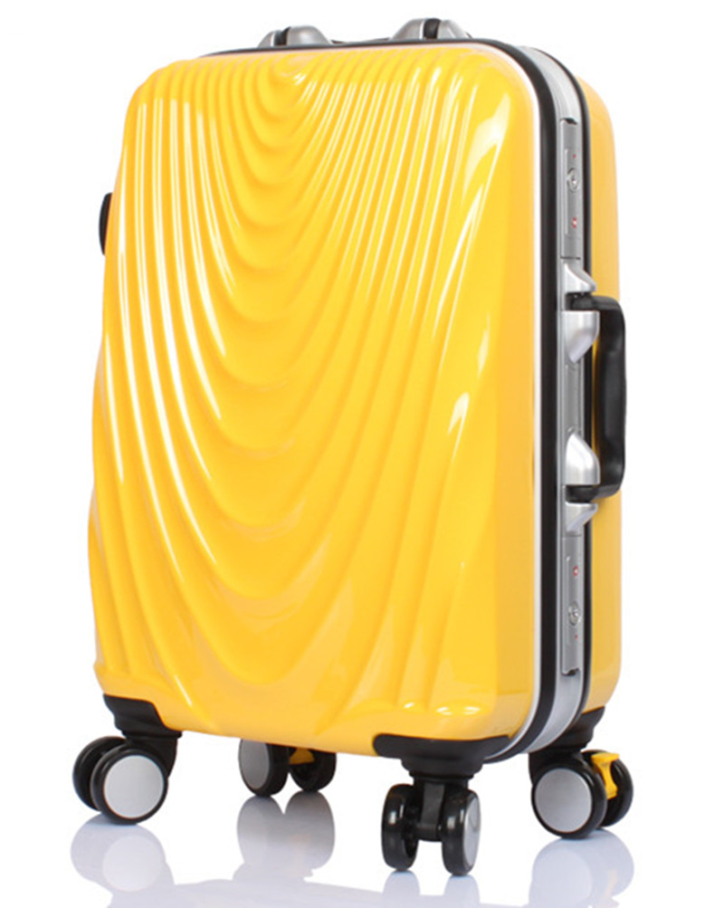 KUNDUI 20 24 Inch High-end aluminum frame PC spinner wheel trolley rolling Men luggage Box Women Travel Case girl suitcase bags