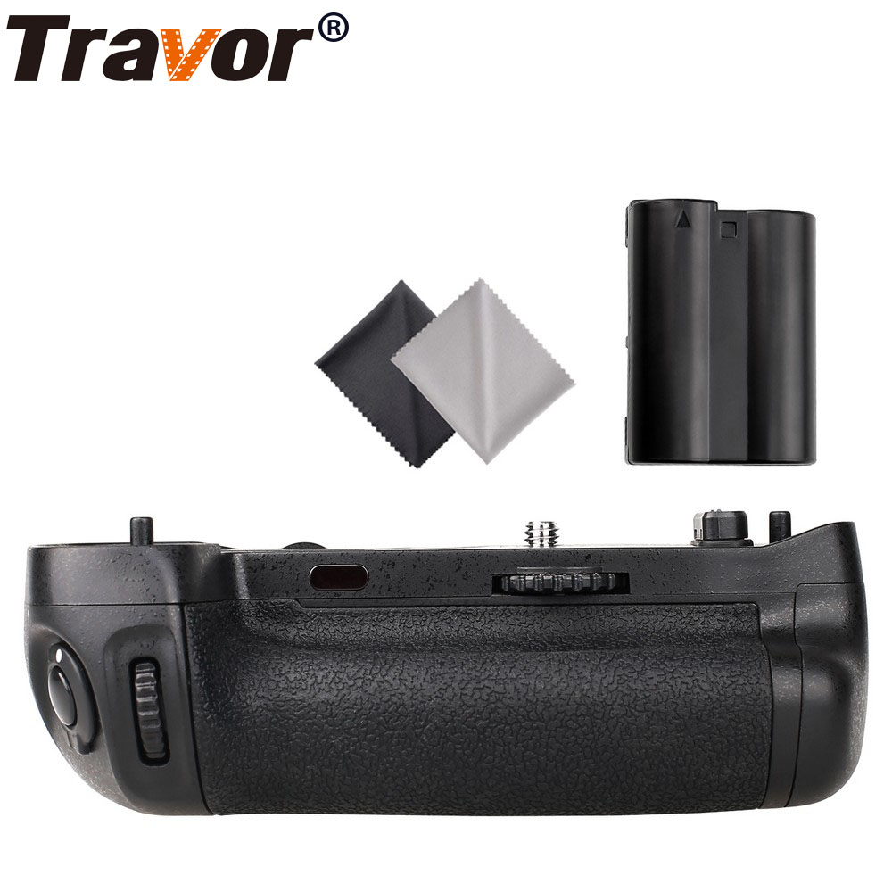 Travor vertical Battery Grip for Nikon D750 DSLR Camera as MB-D16+EN-EL15 battery+2pcs Lens Cloth meike mk dr750 vertical battery grip pack holder for nikon d750 rechargeable li ion battery for nikon en el15 cleaning kit