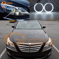 For Hyundai Genesis 2012 2013 Excellent Ultrabright Headlight Illumination CCFL Angel Eyes Kit Halo Ring Angel