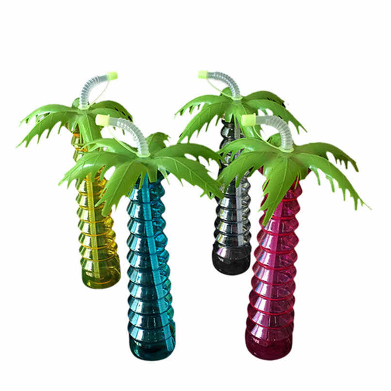 Креативные пластиковые бокалы в форме кокоса молочный фруктовый сок чашки для питья большой емкости высокого качества 450-500 мл Оптовая продажа Бесплатная доставка NOD06