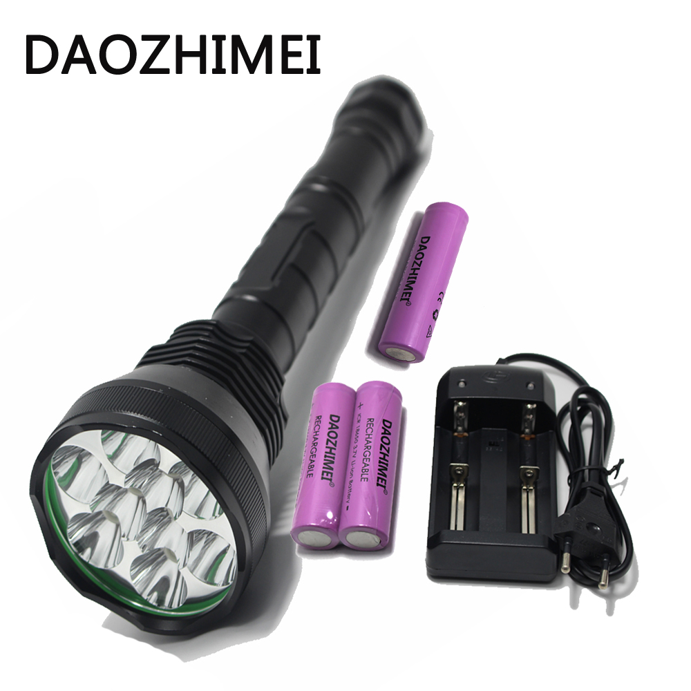 20000LM 9* XM-L T6 Outdoor Hunting Tactical LED Torch Light 5 Mode Super powerful led flashlight+18650 26650 Battery+Charger super bright 72000lm 5 mode 28 xml t6 led flashlight torch flash light lamp for outdoor hunting with 4 26650 battery