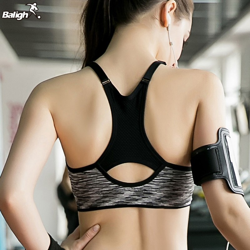 Fitness Yoga Sports Bra For Running Gym Padded Wire free Shake Underwear Seamless Fitness Top Bras seamless wire free adjustable bra