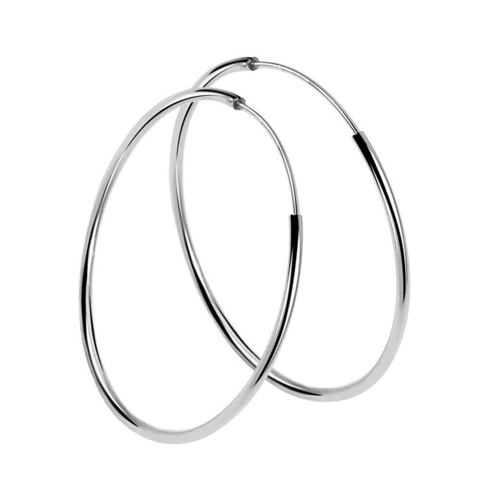 Anti allergie 925 argent 30mm/40mm/50mm/60mm/70mm grand cerceau cercle boucles d'oreilles rond cerceaux boucles d'oreilles boucles d'oreilles bijoux