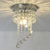 S Shape Crystal Porch Sparkling Crystal LED Ceiling Lamp Chandelier Hallway Porch Pendant Light Lighting