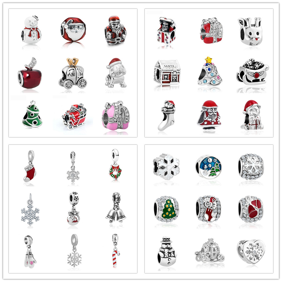 Free Shipping 1pc Christmas Gift Gold Silver 2 Tones Boy Swing Hanging Bead Charms Fits European Pandora Charm Bracelets A330 Beads Jewelry & Accessories
