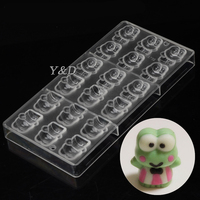 Stereo Frog Prince / Princess Polycarbonate PC Chocolate Molds Transparent  Plastic Hard Inject Injection  Pudding Jelly  Mold