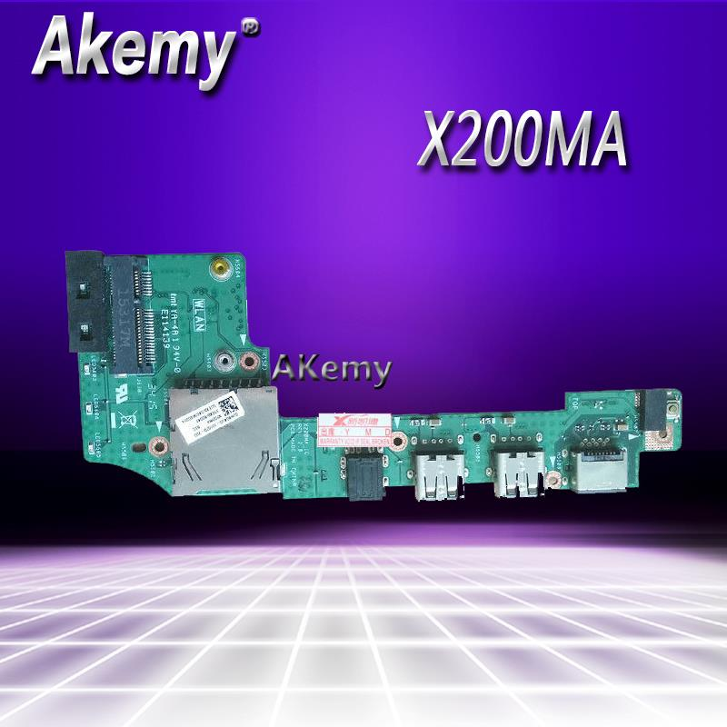 FOR <font><b>ASUS</b></font> x200 x200c <font><b>x200ca</b></font> X200M X200MA USB SD Card Reader Audio Board IO_BOARD image