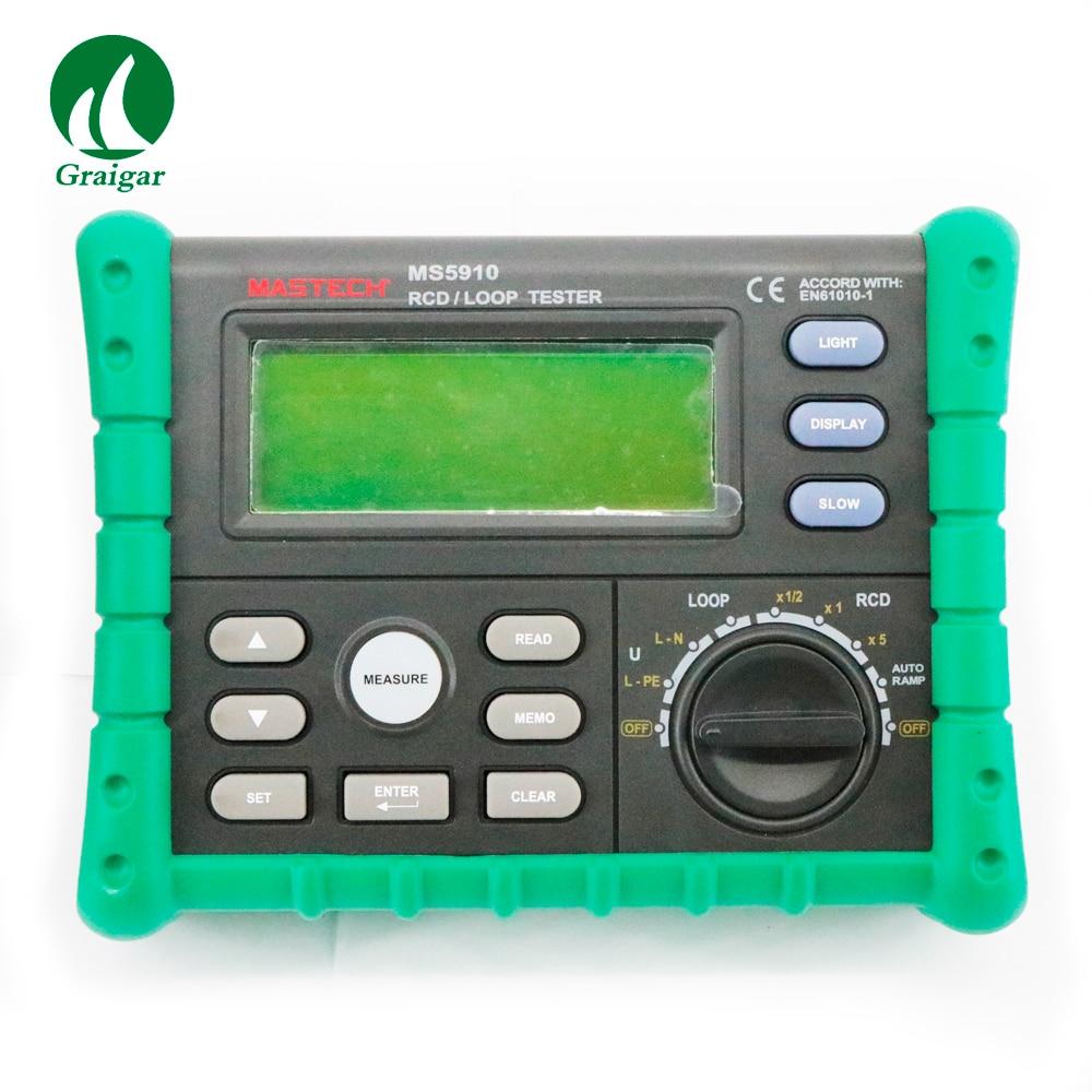 Electrical Leakage Tester : Ms electric leakage detector tester rcd loop