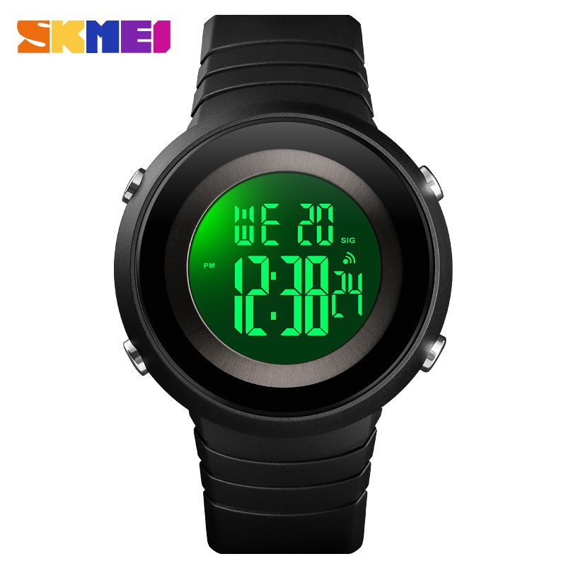 SKMEI Simple Men outdoor Sport Watches Back Light LED 50M Waterproof Digital Watch Chronograph Week Wristwatches Relogio Masculi(China)