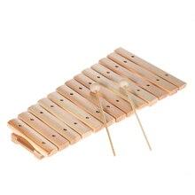 Музыкальные ксилофон orff инструменты пианино Деревянный инструмент для детей Детские Музыкальные Развивающие игрушки с 2 молотками