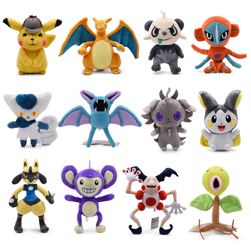 14-45cm New Arrival Cute Charizard Pikachu Aipom Lucario Tyranitar Furret Soft Plush Dolls Toys For Children Christmas Gift