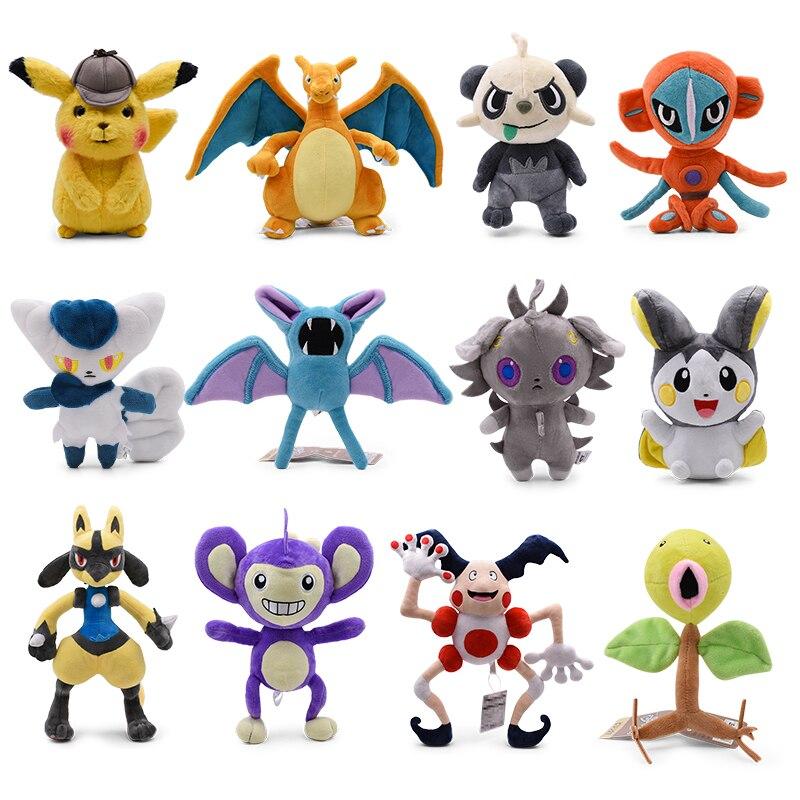 14-45cm New Arrival Cute Charizard Pikachu Aipom Lucario Tyranitar Furret Soft Plush Dolls Toys For Children Christmas Gift