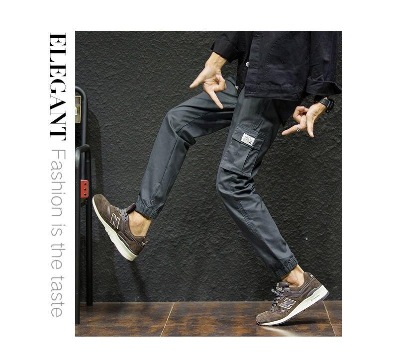 7XL Cargo Pants Men Quality Cotton Pencil Pants Male Washed Slim Fit Pants Mens Trousers Korean Brand MuLS Plus Size Casual Pant 06