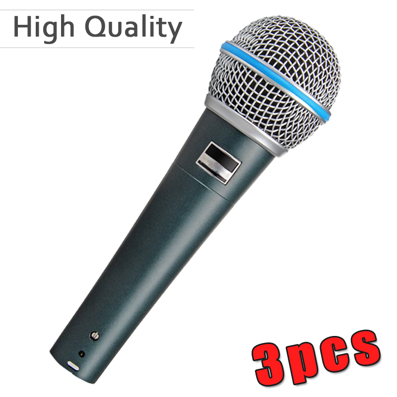 3pcs lot high quality vocal karaoke handheld dynamic wired microphone microfone mike mic in. Black Bedroom Furniture Sets. Home Design Ideas