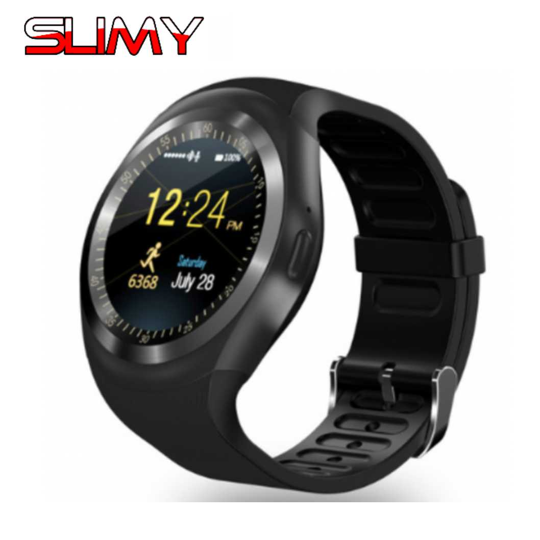 Galleria fotografica Slimy Bluetooth Smart Watch Phone Relogio <font><b>Smartwatch</b></font> Support 2G Call SIM TF Card Camera for Android Phone PK DZ09 A1 GT08 V8