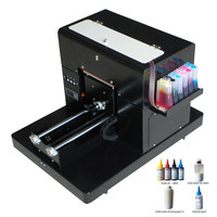 Hot selling A4 T shirt printing machine A4 size dtg flatbed printer machine for print clothes Tshirt with textile ink